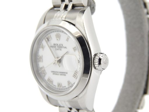 Rolex Stainless Steel Date 79160 White Roman-6