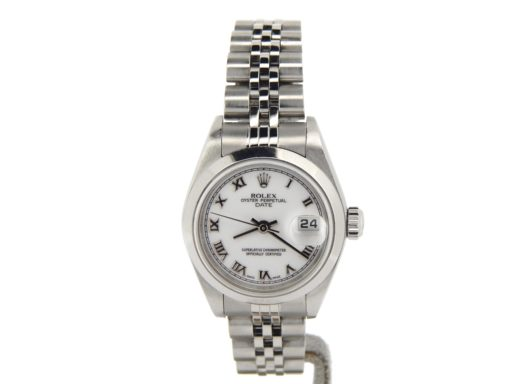 Rolex Stainless Steel Date 79160 White Roman-8