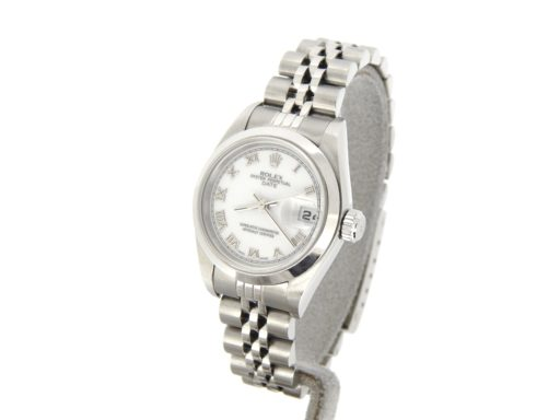 Rolex Stainless Steel Date 79160 White Roman-7
