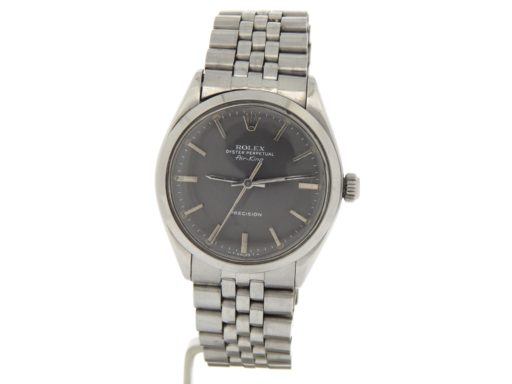 Rolex Stainless Steel Air-King 5500 Gray, Slate-11