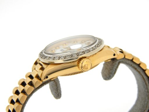 Rolex Yellow Gold Datejust President Diamond 6917 White MOP-5