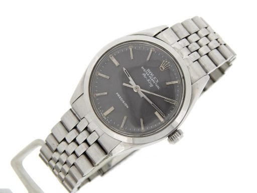Rolex Stainless Steel Air-King 5500 Gray, Slate-9
