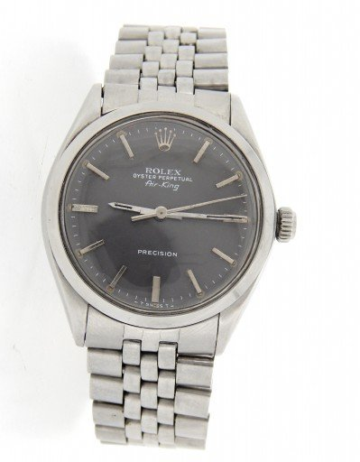 Rolex Stainless Steel Air-King 5500 Gray, Slate-1