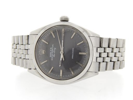 Rolex Stainless Steel Air-King 5500 Gray, Slate-8