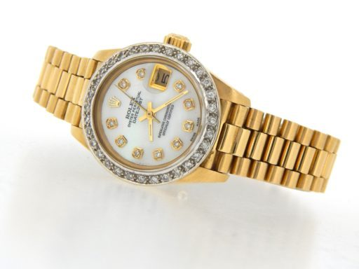 Rolex Yellow Gold Datejust President Diamond 6917 White MOP-7