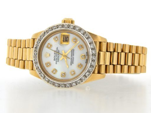 Rolex Yellow Gold Datejust President Diamond 6917 White MOP-6