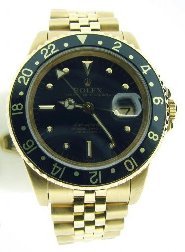 Rolex 18K Yellow Gold GMT-Master 16758 Black Nipple-7