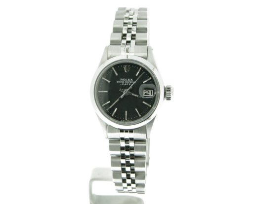 Rolex Stainless Steel Date 6516 Black -5