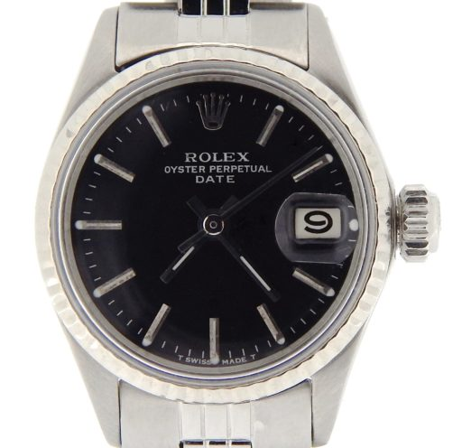 Rolex Stainless Steel Date 6517 Black -1
