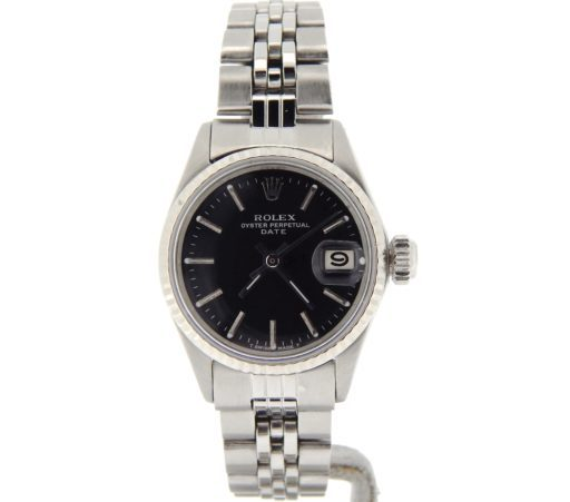 Rolex Stainless Steel Date 6517 Black -7