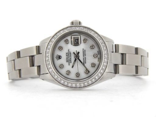 Rolex Stainless Steel Datejust 6916 White MOP Diamond-6