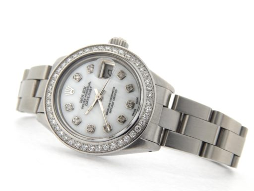 Rolex Stainless Steel Datejust 6916 White MOP Diamond-7