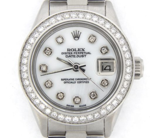 Rolex Stainless Steel Datejust 6916 White MOP Diamond-1