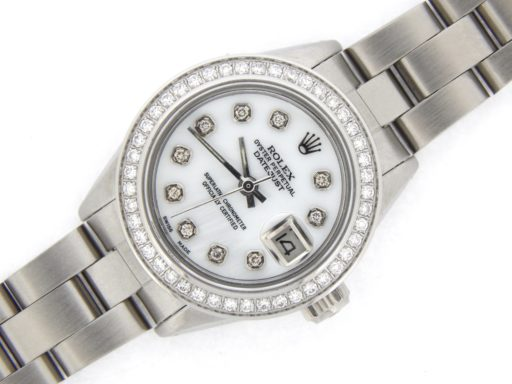 Rolex Stainless Steel Datejust 6916 White MOP Diamond-8
