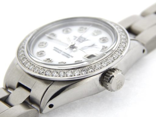 Rolex Stainless Steel Datejust 6916 White MOP Diamond-5