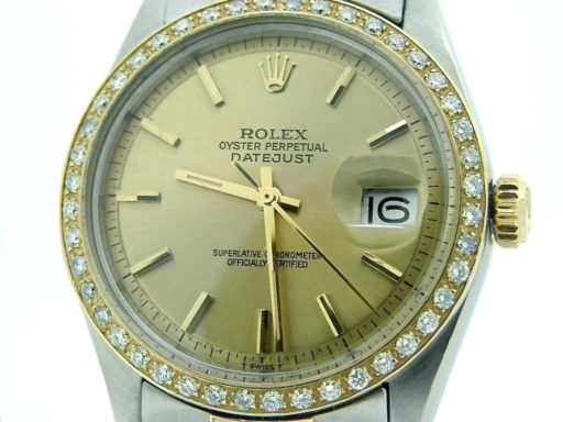 Rolex Two-Tone Datejust 1601 Diamond Champagne-6