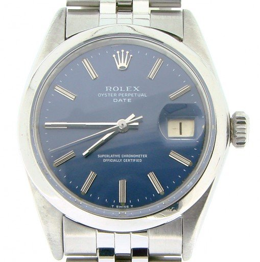 Rolex Stainless Steel Date 1500 Blue -1