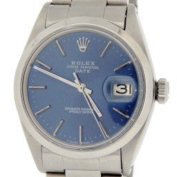 Mens Rolex Stainless Steel Date Blue  1500 (SKU 2008382MT)