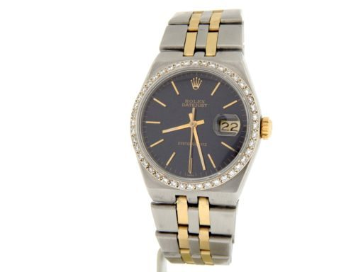 Rolex Two-Tone Datejust Oysterquartz 17013 Diamond Black-8