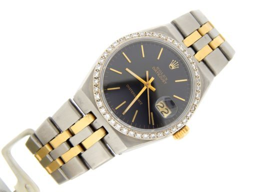 Rolex Two-Tone Datejust Oysterquartz 17013 Diamond Black-7