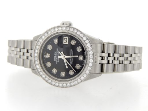 Rolex Stainless Steel Datejust 6916 Black Diamond-7