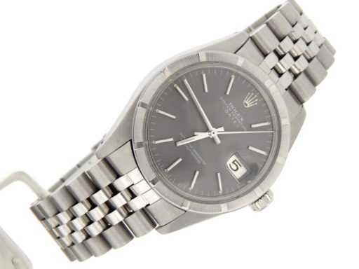 Rolex Stainless Steel Date 1501 Gray Slate -9