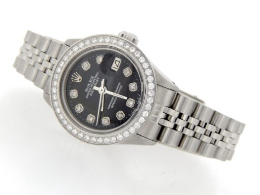 Rolex Stainless Steel Datejust 6916 Black Diamond-8