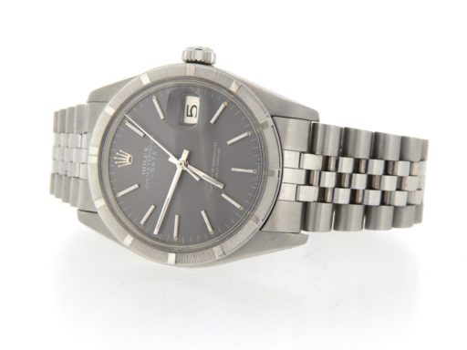 Rolex Stainless Steel Date 1501 Gray Slate -6