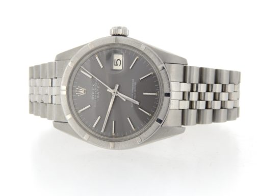Rolex Stainless Steel Date 1501 Gray Slate -7