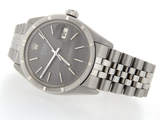 Rolex Stainless Steel Date 1501 Gray Slate -8