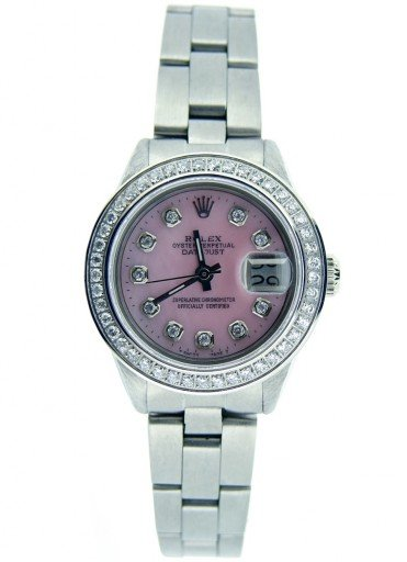 Rolex Stainless Steel Datejust 6917 Pink MOP Diamond-5