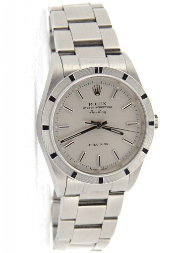 Rolex Stainless Steel Air-King 14010 Silver -8
