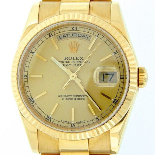 Rolex 18K Yellow Gold Day-Date President 118238 Champagne -1