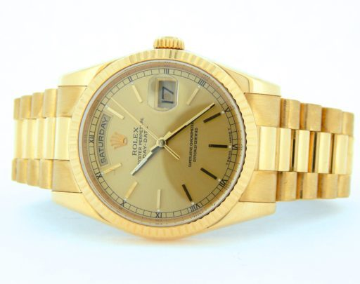 Rolex 18K Yellow Gold Day-Date President 118238 Champagne -4