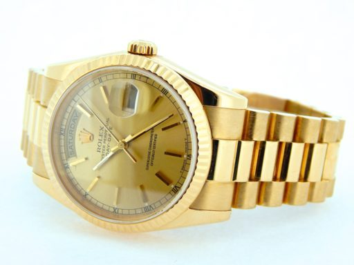 Rolex 18K Yellow Gold Day-Date President 118238 Champagne -6