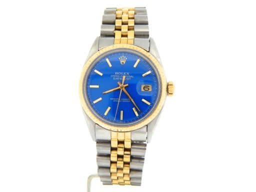 Rolex Two-Tone Datejust 1601 Blue -8