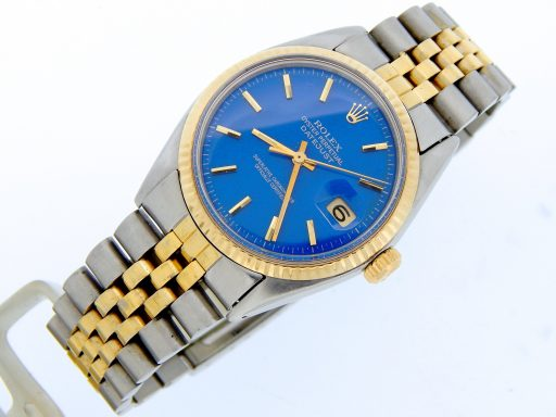 Rolex Two-Tone Datejust 1601 Blue -7