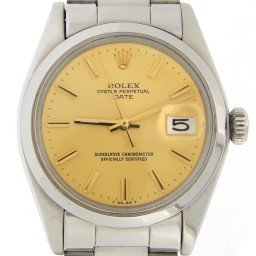 Mens Rolex Stainless Steel Date Champagne  1500 (SKU 3813888MT)