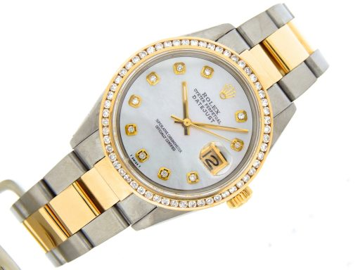 Rolex Two-Tone Datejust 16013 White MOP Diamond-6