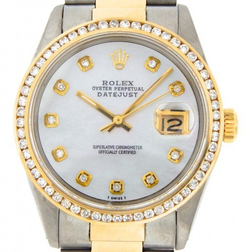 Rolex Two-Tone Datejust 16013 White MOP Diamond-1