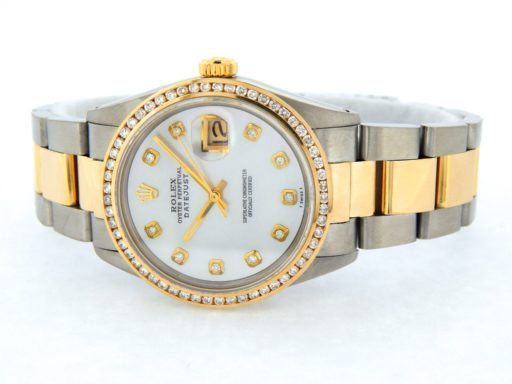 Rolex Two-Tone Datejust 16013 White MOP Diamond-9