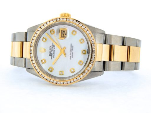 Rolex Two-Tone Datejust 16013 White MOP Diamond-8