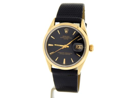 Rolex Gold Shell Date 1550 Black-11