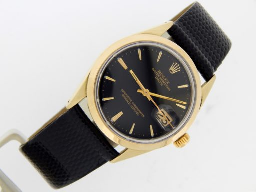 Rolex Gold Shell Date 1550 Black-7