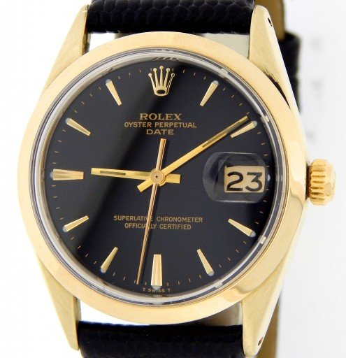 Rolex Gold Shell Date 1550 Black-1