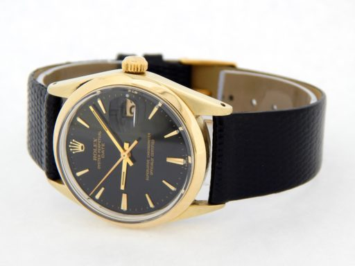 Rolex Gold Shell Date 1550 Black-9