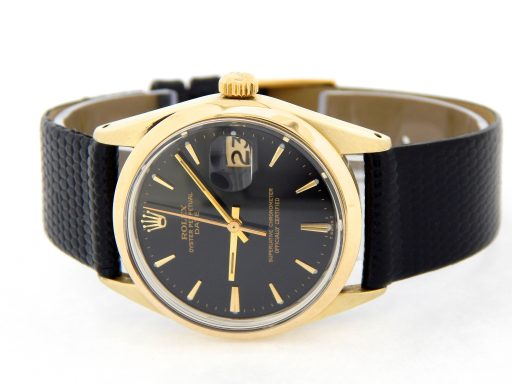 Rolex Gold Shell Date 1550 Black-10
