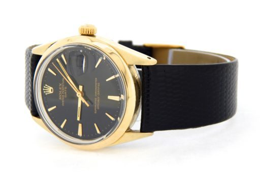 Rolex Gold Shell Date 1550 Black-8