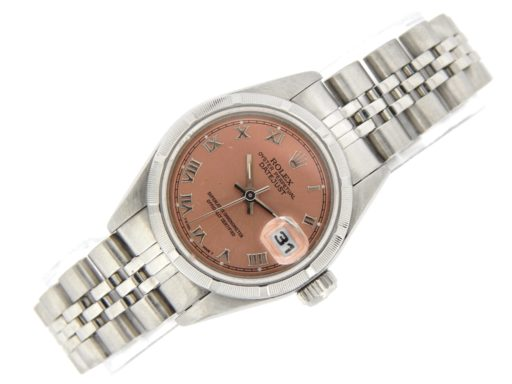 Rolex Stainless Steel Datejust 79190 Salmon Roman-6