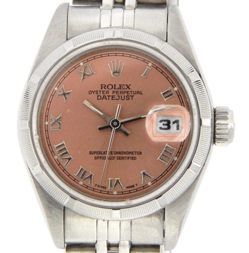 Rolex Stainless Steel Datejust 79190 Salmon Roman-1